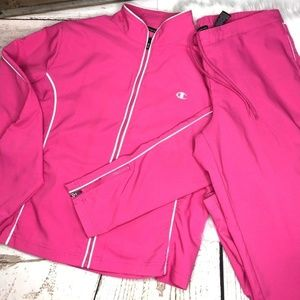 Vintage Champion 2 pc track Jogging suit sz M